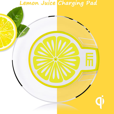 Single Coil Wireless Charging Transmitter for Motorola 360 Watch - Lemon Yellow