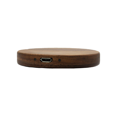Single Coil Wireless Charging Transmitter for Caterpillar Cat S50 - Walnut Wood