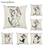 Cat cushion cover FANCYQBUE