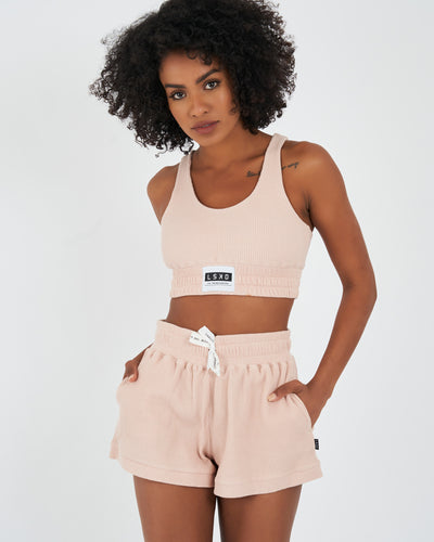 Boxer Lounge Crop - Dusty Pink