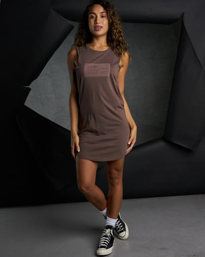 Pump Tank Dress - Peppercorn