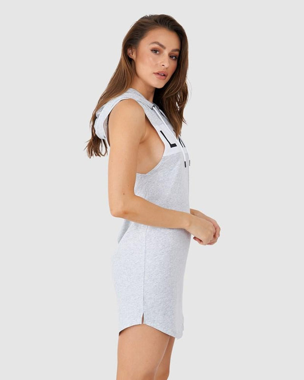 Dough Hooded Dress - Lt Grey Marl