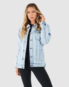 Unisex Tibetan Jacket - South Beach Blue