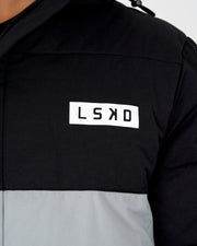 Roasted Puffer Jacket - Black-Grey - Pre-Order