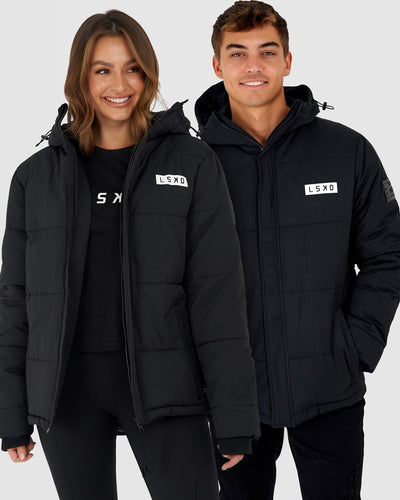Unisex Roasted Puffer Jacket - Black
