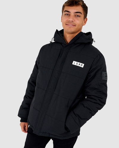 Roasted Puffer Jacket - Black