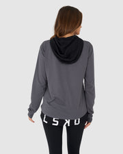 Unisex Vanquish Hooded LS Tee Regular - Dark Shadow