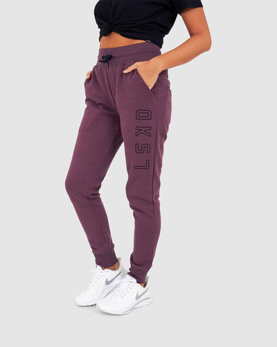 Unisex Tidy Trackpants - Faded Plum