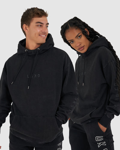 Unisex Connivance Pullover Oversize - Black Acid