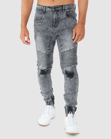 Torment Denim Pant - Grey Snow