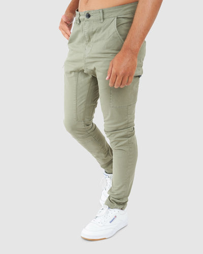 Barracks Chino Pant - Dusty Olive