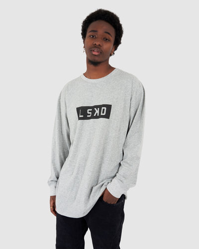 Mood LS Tee - Lt Grey Marl