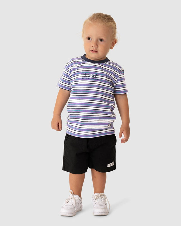 Chasin Vibes Box Fit Tee (00-6) - Purple Stripe