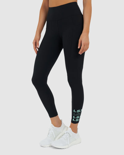 Repeater Tights - Black-Neo Mint