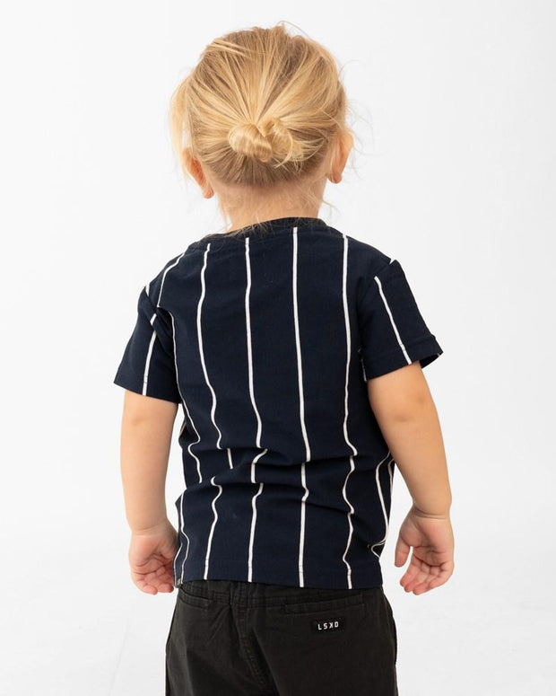 Restless Tee (00-6) - Navy Stripe