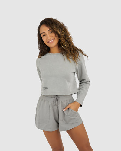 Crew LS Top - Pigment Pewter