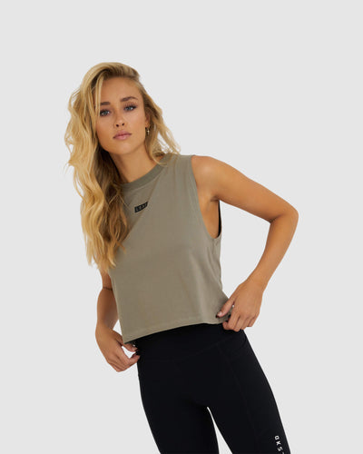 Crossover Tank - Dusty Olive