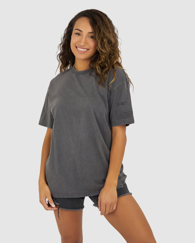Unisex Lateral Tee Oversize - Pilled Pigment Charcoal