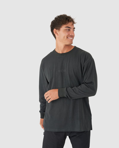 Field LS Tee Oversize - Pirate Black