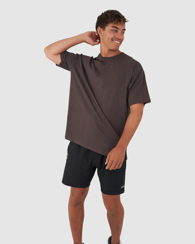 Field Tee Oversize - Peppercorn