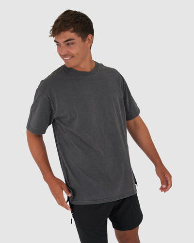 Lateral Tee Oversize - Pilled Pigment Charcoal