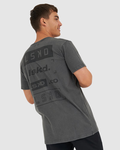 Cube Tee - Pilled Pigment Charcoal