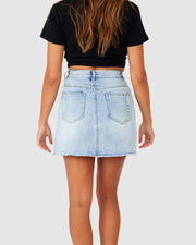Madison Denim Skirt - South Beach Blue