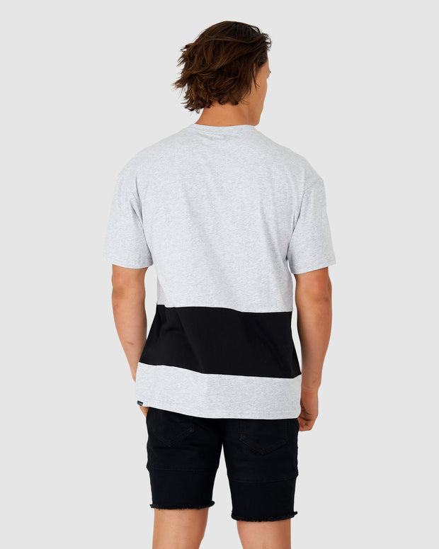 Wrapped Up Tee - Lt Grey Marl