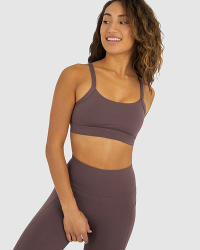 Momentum Sports Bra - Peppercorn