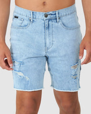 Heath Denim Short - South Beach Blue