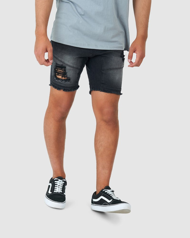 Torment Denim Short - Black Fade