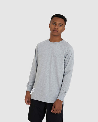 Optimal LS Tee - Lt Grey Marl