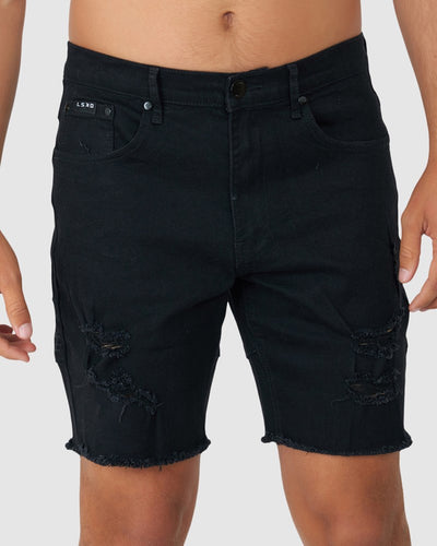 Heath Denim Short - Black