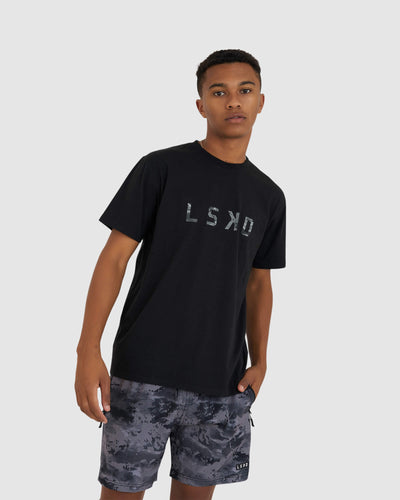 Structure Tee - Black-Urban Camo