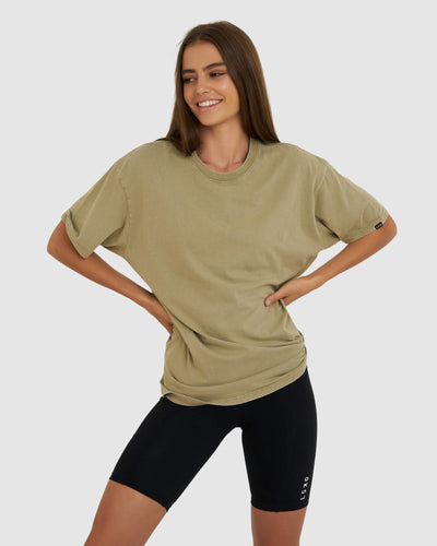 Just Friends Tee - Pigment Dusty Olive