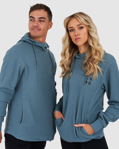 Unisex Canadian Waffle Pullover - Lead