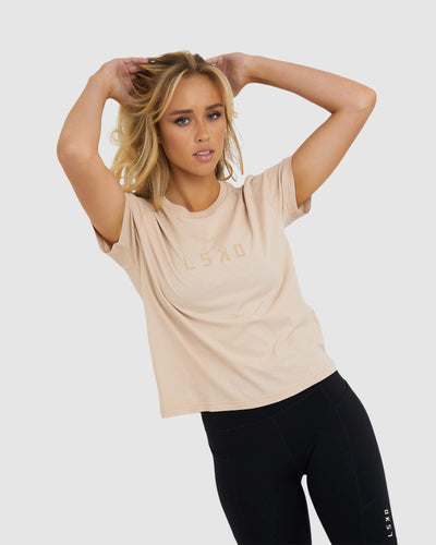 Structure Tee - Nude