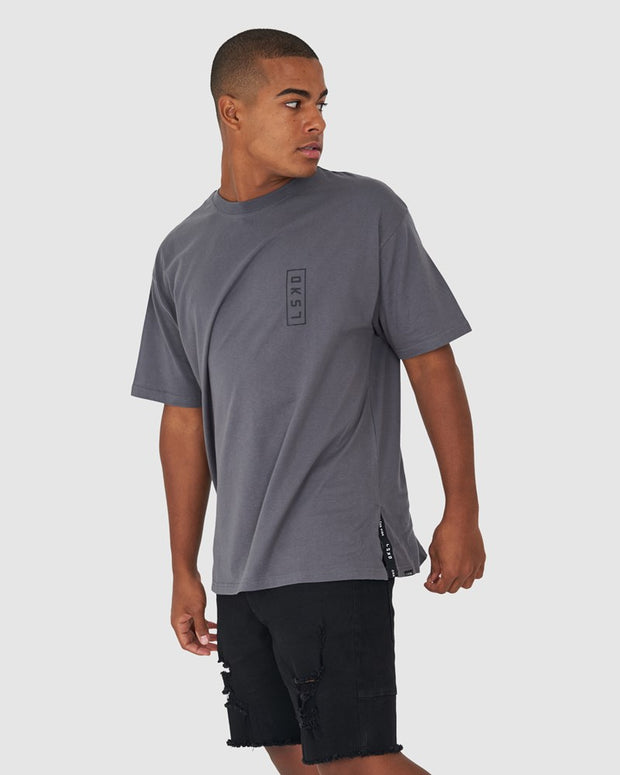 Splinter Tee Box Fit - Dark Shadow