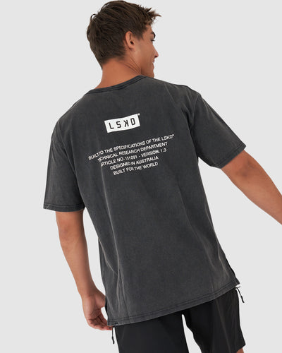 Instruction Tee - Pilled Pigment Black