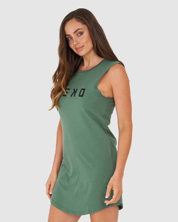 Structure Dress - River Green