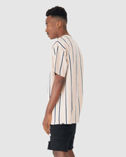 Label Tee - Husk Stripe