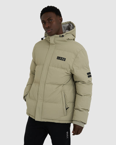 Roasted Puffer Jacket Oversize - Stone