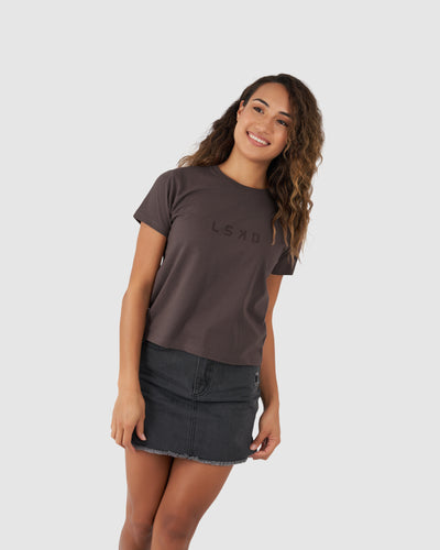 Structure Tee - Peppercorn