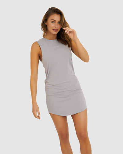 Base Tank Dress - Alloy