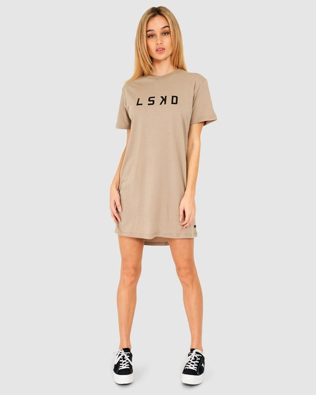 Structure Tee Dress - Taupe
