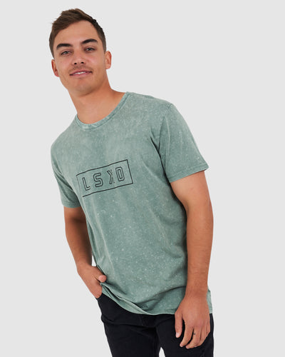 Outline Tee - Grey Green Pigment