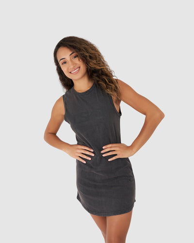 Arial Tank Dress - Pigment Black