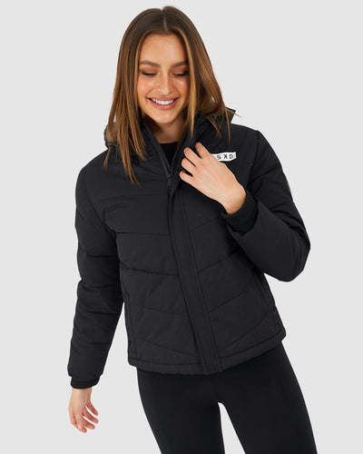 Roasted Puffer Jacket - Black - Pre-Order-3
