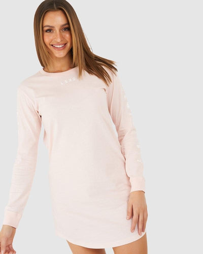 Stacked LS Dress - Rosewater