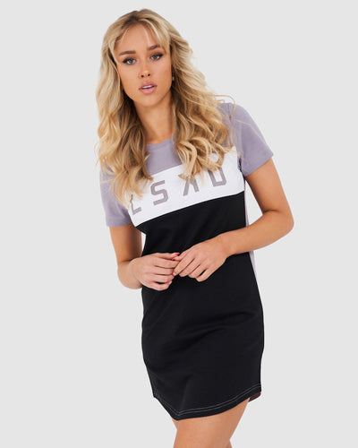 Dough Tee Dress - Grey Grape